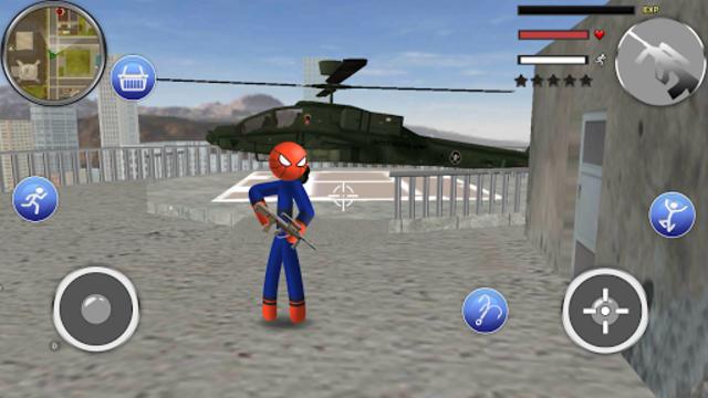 Spider Stickman Rope - Hero of Crime City screenshot 15