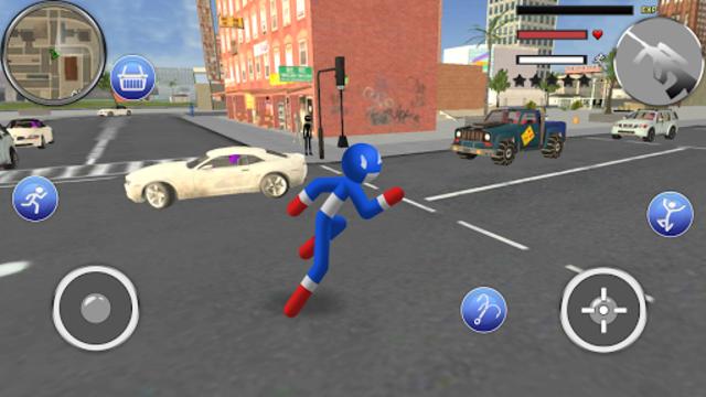 Spider Stickman Rope - Hero of Crime City screenshot 16