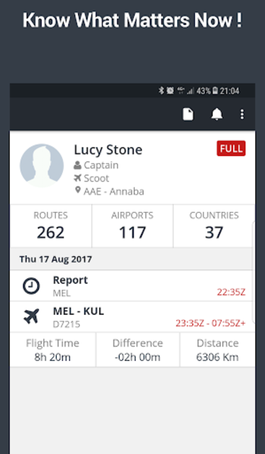 RosterBuster - flight and cabin crew roster app screenshot 1