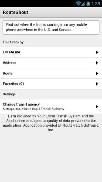 RouteShout screenshot 2