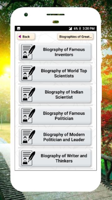 Biography of Famous Personalities Free in English screenshot 1