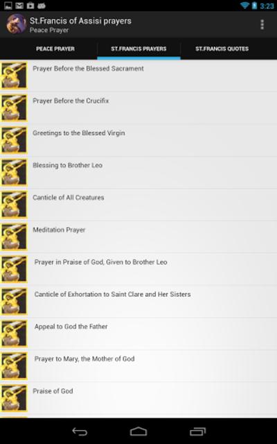St. Francis of Assisi prayers screenshot 2