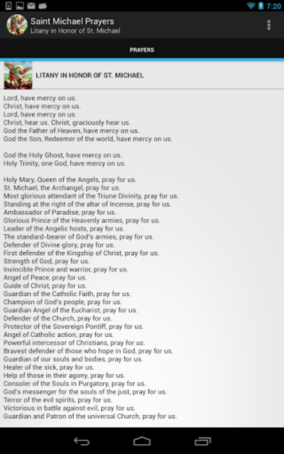 Saint Michael Prayers screenshot 8