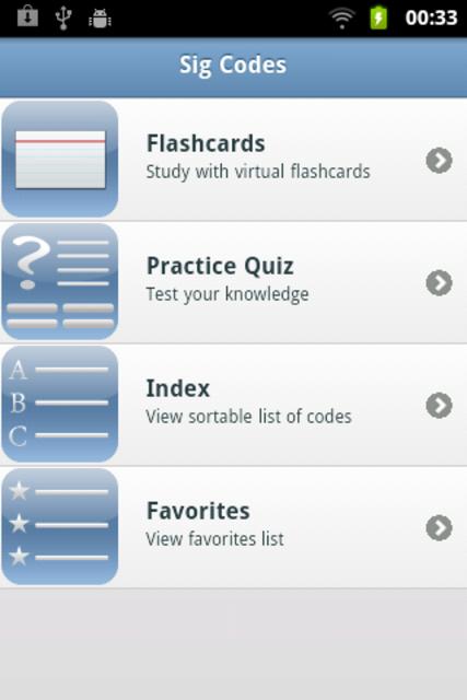 Sig Codes Quiz & Card screenshot 1