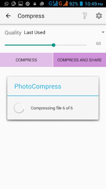 Photo Compress Pro 2.0 screenshot 3