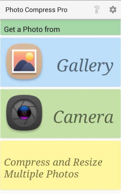 Photo Compress Pro 2.0 screenshot 1