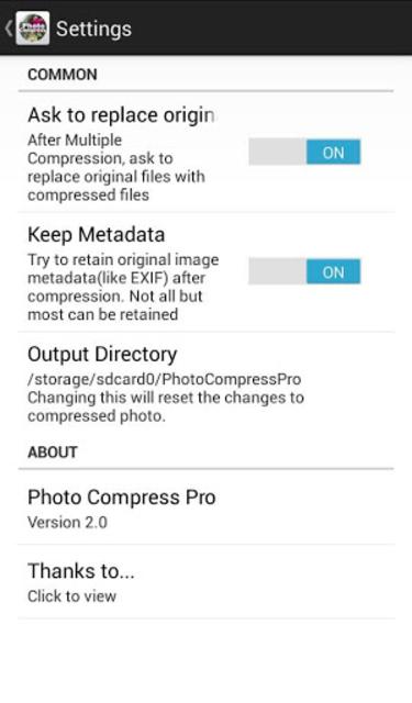 Photo Compress Pro 2.0 screenshot 5