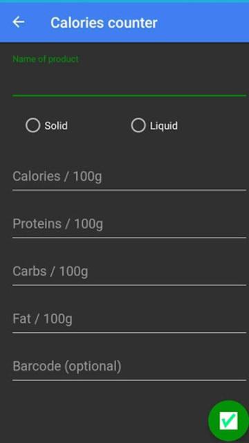 calories counter screenshot 1