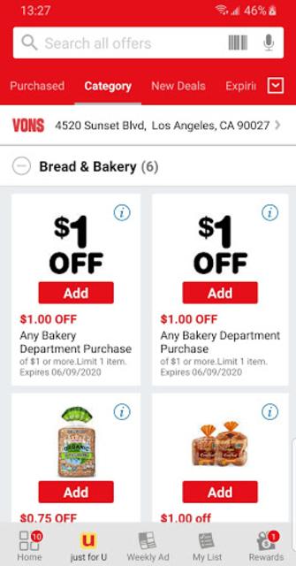 Vons Deals & Rewards screenshot 2