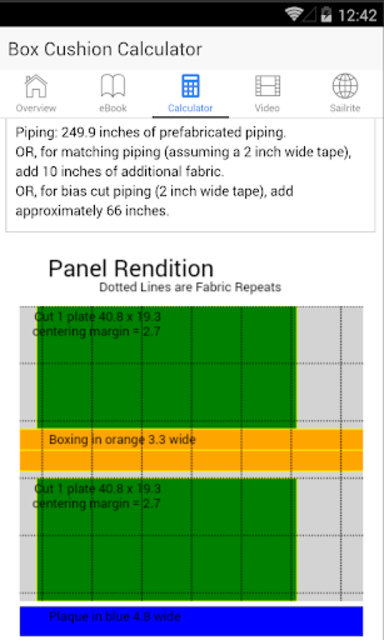 Box Cushion Fabrication screenshot 3