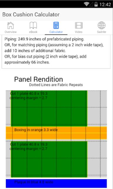 Box Cushion Fabrication screenshot 8