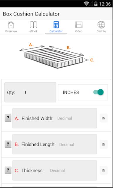Box Cushion Fabrication screenshot 12