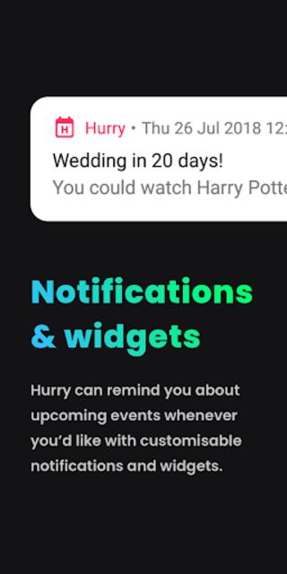 Hurry - Countdown to Birthday/Vacation (& Widgets) screenshot 3