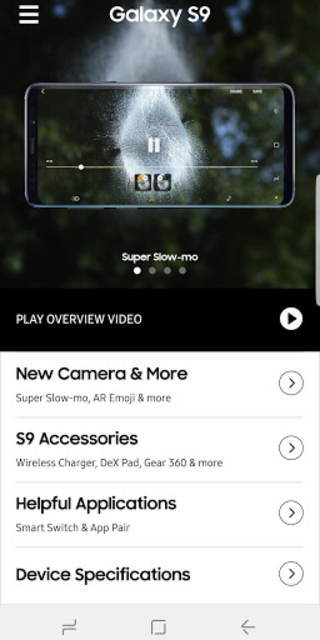 Experience app for Galaxy S9/S9+ screenshot 2