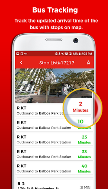 San Francisco Metro & Bus Tracker screenshot 2