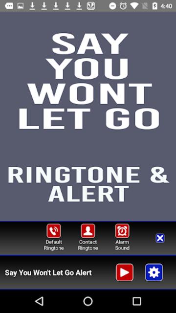 Say You Wont Let Go Ringtone screenshot 2