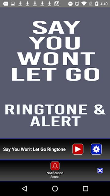 Say You Wont Let Go Ringtone screenshot 3