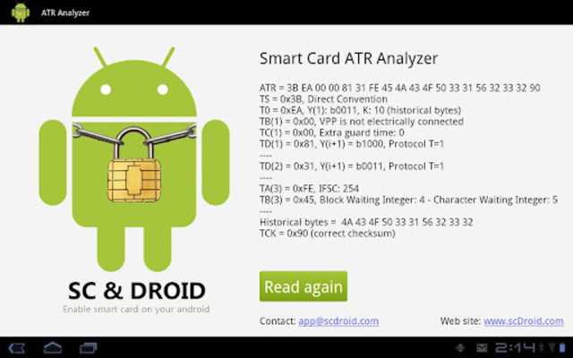 Smart Card ATR Analyzer screenshot 1