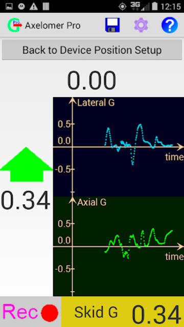 Axelomer Pro car accelerometer screenshot 1