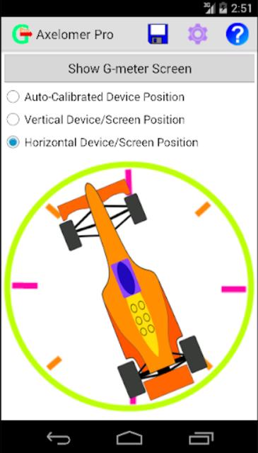 Axelomer Pro car accelerometer screenshot 3
