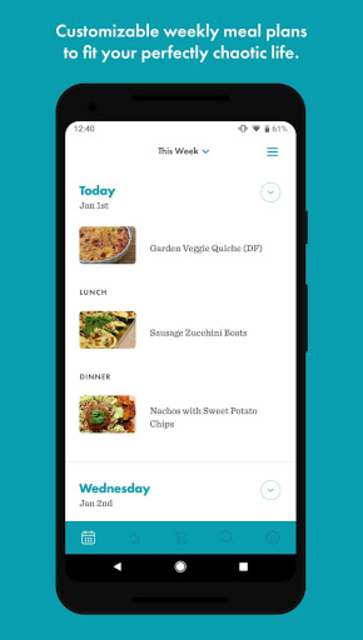 Real Plans - Meal Planner and Shopping List screenshot 1