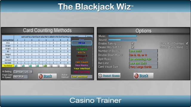 Blackjack Wiz Casino Trainer screenshot 2