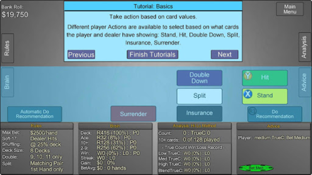 Blackjack Wiz Casino Trainer screenshot 5