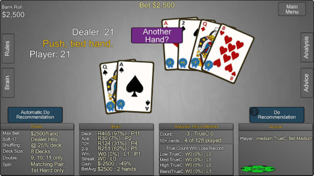 Blackjack Wiz Casino Trainer screenshot 7