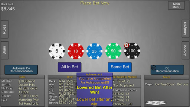 Blackjack Wiz Casino Trainer screenshot 8