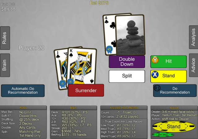 Blackjack Wiz Casino Trainer screenshot 13