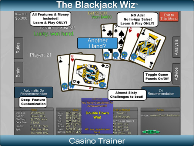Blackjack Wiz Casino Trainer screenshot 21