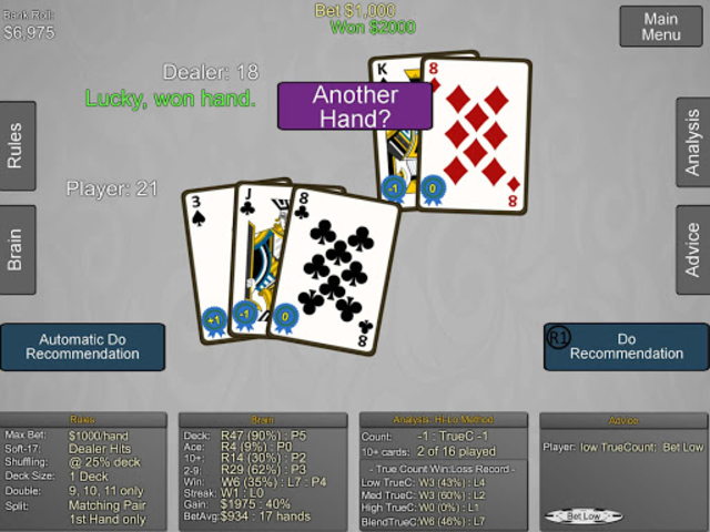 Blackjack Wiz Casino Trainer screenshot 22