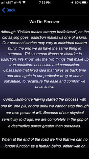 Narcotics Anonymous screenshot 3