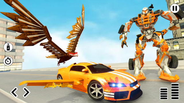 Flying Eagle Robot Car Multi Transforming Games screenshot 1