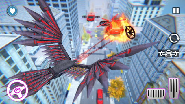 Flying Eagle Robot Car Multi Transforming Games screenshot 4