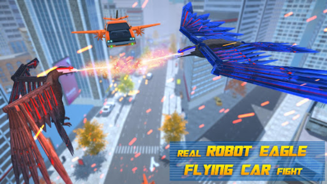 Flying Eagle Robot Car Multi Transforming Games screenshot 7