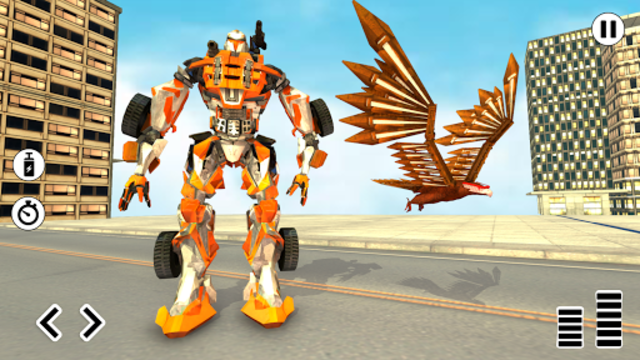 Flying Eagle Robot Car Multi Transforming Games screenshot 9
