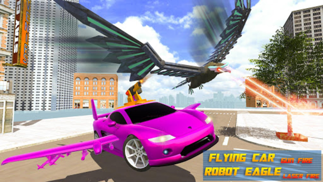 Flying Eagle Robot Car Multi Transforming Games screenshot 10