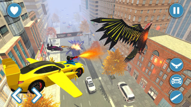Flying Eagle Robot Car Multi Transforming Games screenshot 13