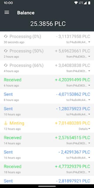 Platincoin Wallet - PLC Group AG screenshot 2