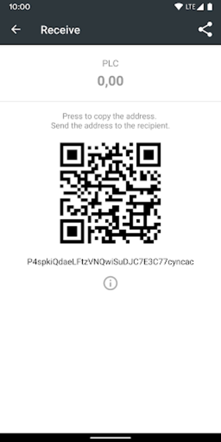 PLC Wallet screenshot 4