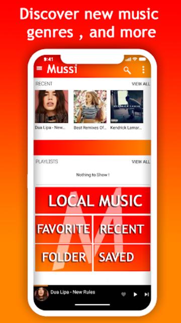 Mussi - music streaming screenshot 1