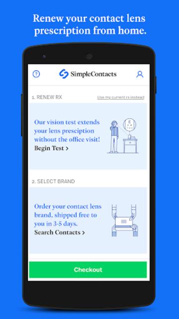 Simple Contacts - Prescription Renewals and Lenses screenshot 1