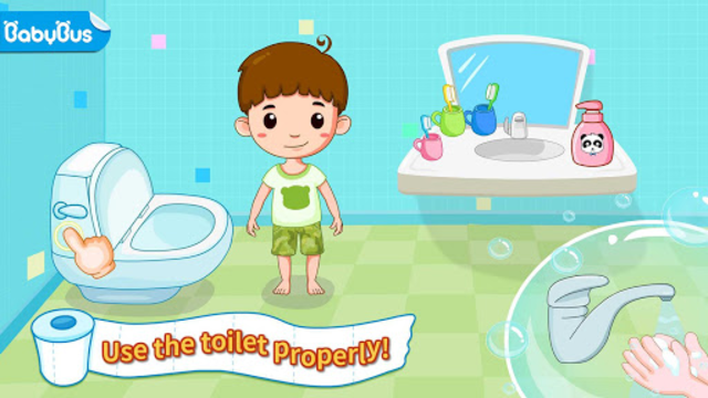Baby Panda's Potty Training - Toilet Time screenshot 1