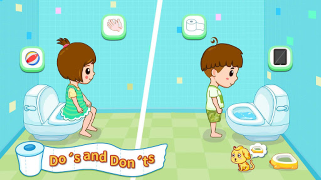 Baby Panda's Potty Training - Toilet Time screenshot 8