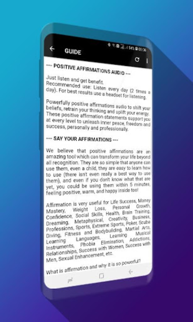 Powerful Affirmations Audio Pro - No Ads screenshot 1
