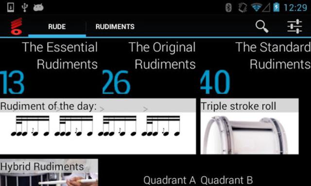 Rude Practice Pad - Drum Rudiments and Exercises screenshot 2