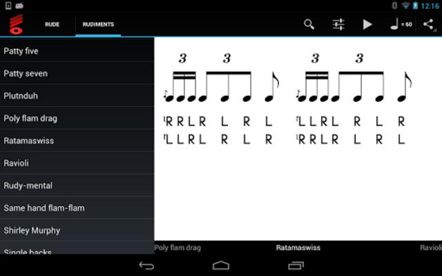 Rude Practice Pad - Drum Rudiments and Exercises screenshot 7