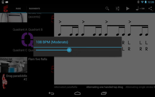 Rude Practice Pad - Drum Rudiments and Exercises screenshot 8