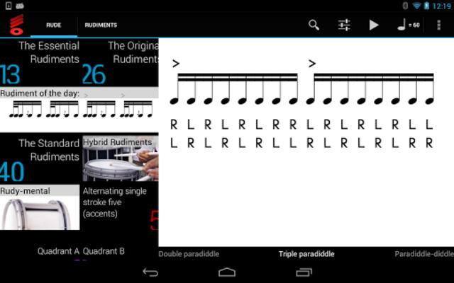Rude Practice Pad - Drum Rudiments and Exercises screenshot 9